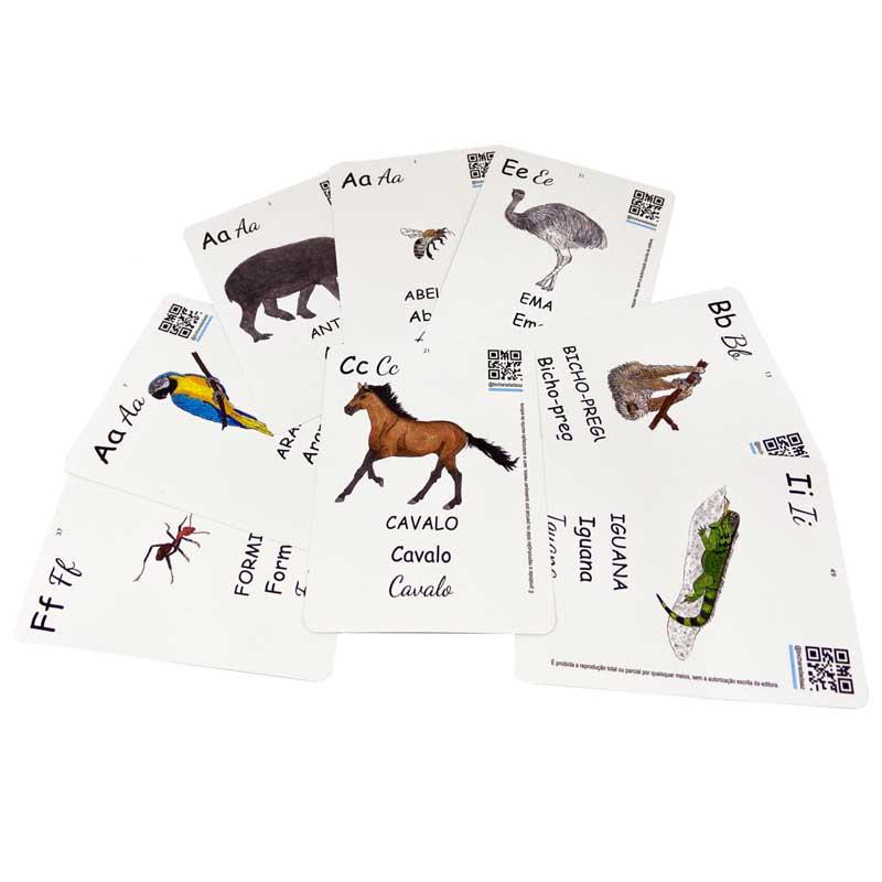 Bichocards Volume 01 - Cartões ilustrados com letras do alfabeto e animais