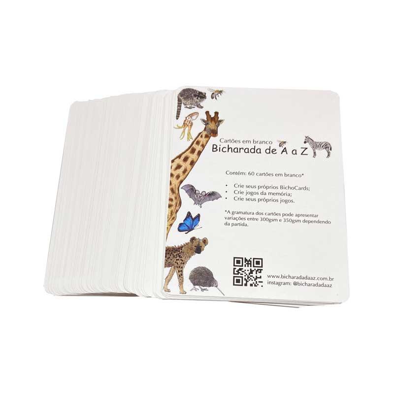 Bicharada de A a Z Cartões em branco - Cartões em branco