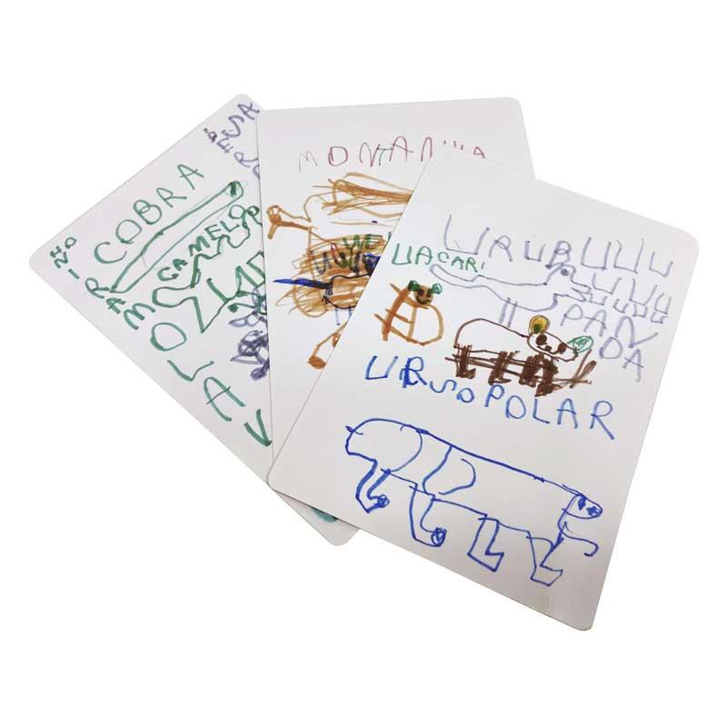 Bicharada de A a Z Cartões em branco - Cartões com desenhos feitos por crianças