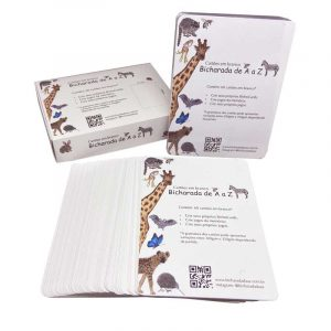 Bicharada de A a Z Cartões em branco - Cartões em branco e caixa