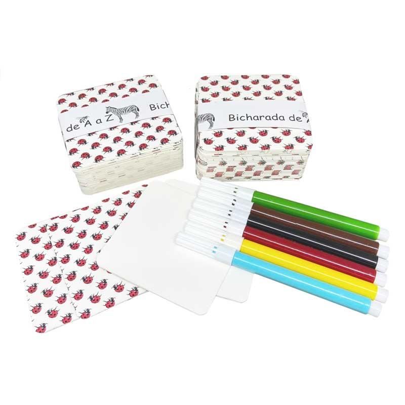 BichoDuos de A a Z - cards em branco e canetinhas coloridas