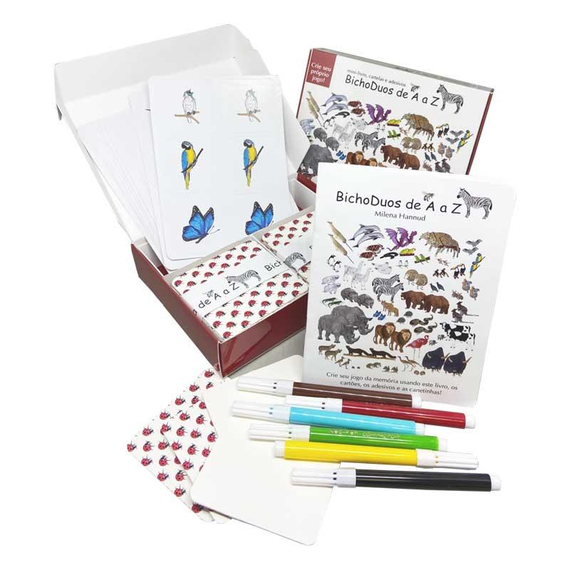BichoDuos de A a Z - material para a criança criar seu próprio jogo da memória