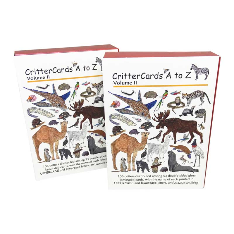 CritterCards Volume 2 - closed book box cover